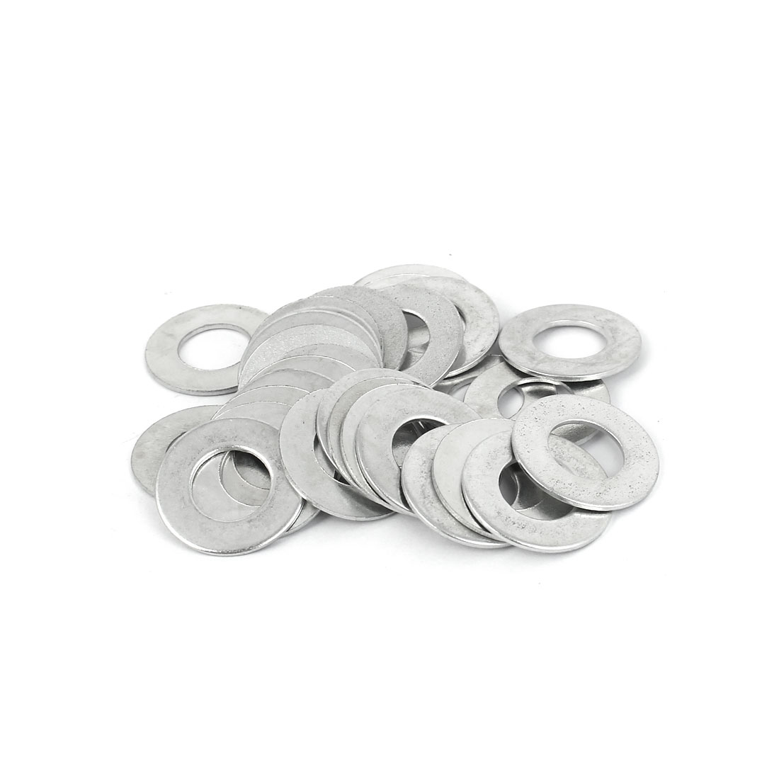 10mm x 20mm x 1mm Zinc Plated Flat Spacers Washers Gaskets Fasteners GB97 30PCS