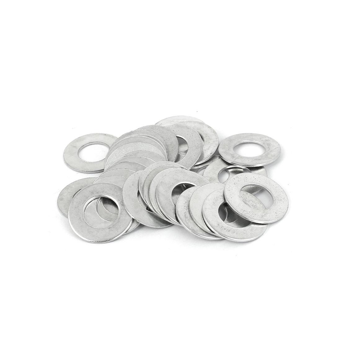 10mm x 20mm x 1mm Zinc Plated Flat Spacers Washers Gaskets Fasteners GB97 30PCS