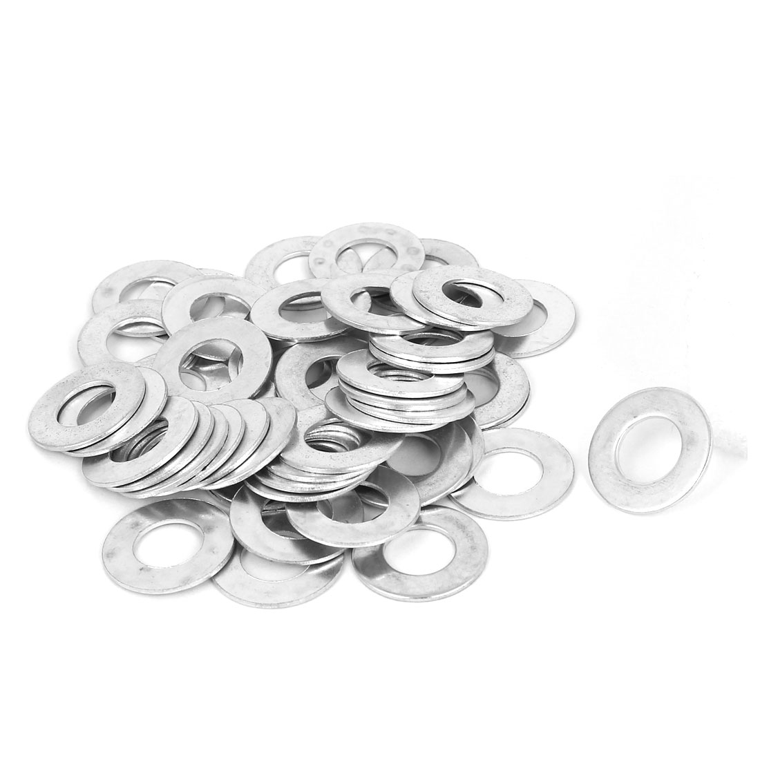 10mm x 20mm x 1mm Zinc Plated Flat Pads Washers Gaskets Fasteners GB97 50PCS