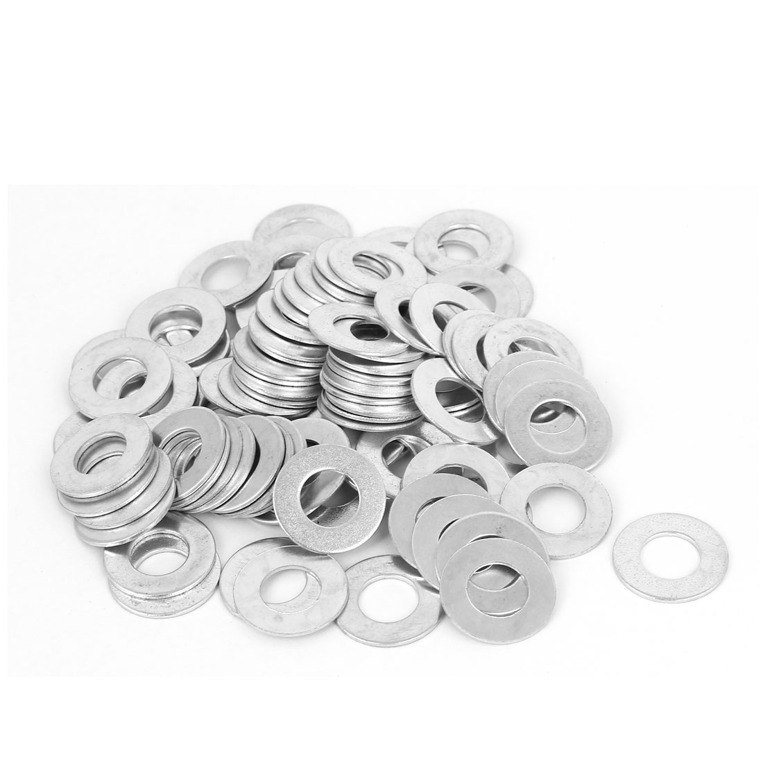 10mm x 20mm x 1mm Zinc Plated Flat Spacers Washers Gaskets Fasteners GB97 90PCS