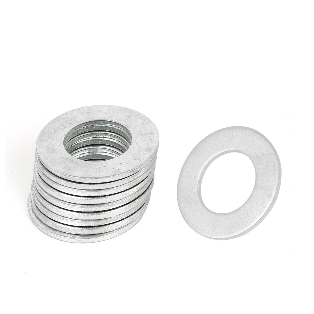 30mm x 54mm Zinc Plated Flat Spacers Washers Gaskets Fasteners GB97 10PCS
