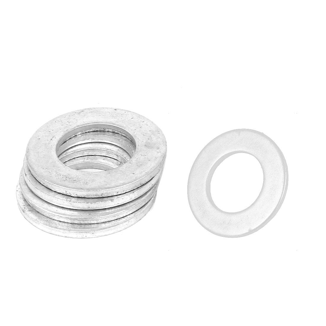 24mm x 44mm Zinc Plated Flat Pads Washers Gaskets Fasteners GB97 5PCS