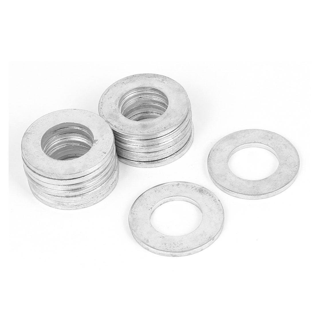 14mm x 28mm x 2mm Zinc Plated Flat Pads Washers Gaskets Fasteners GB97 15PCS