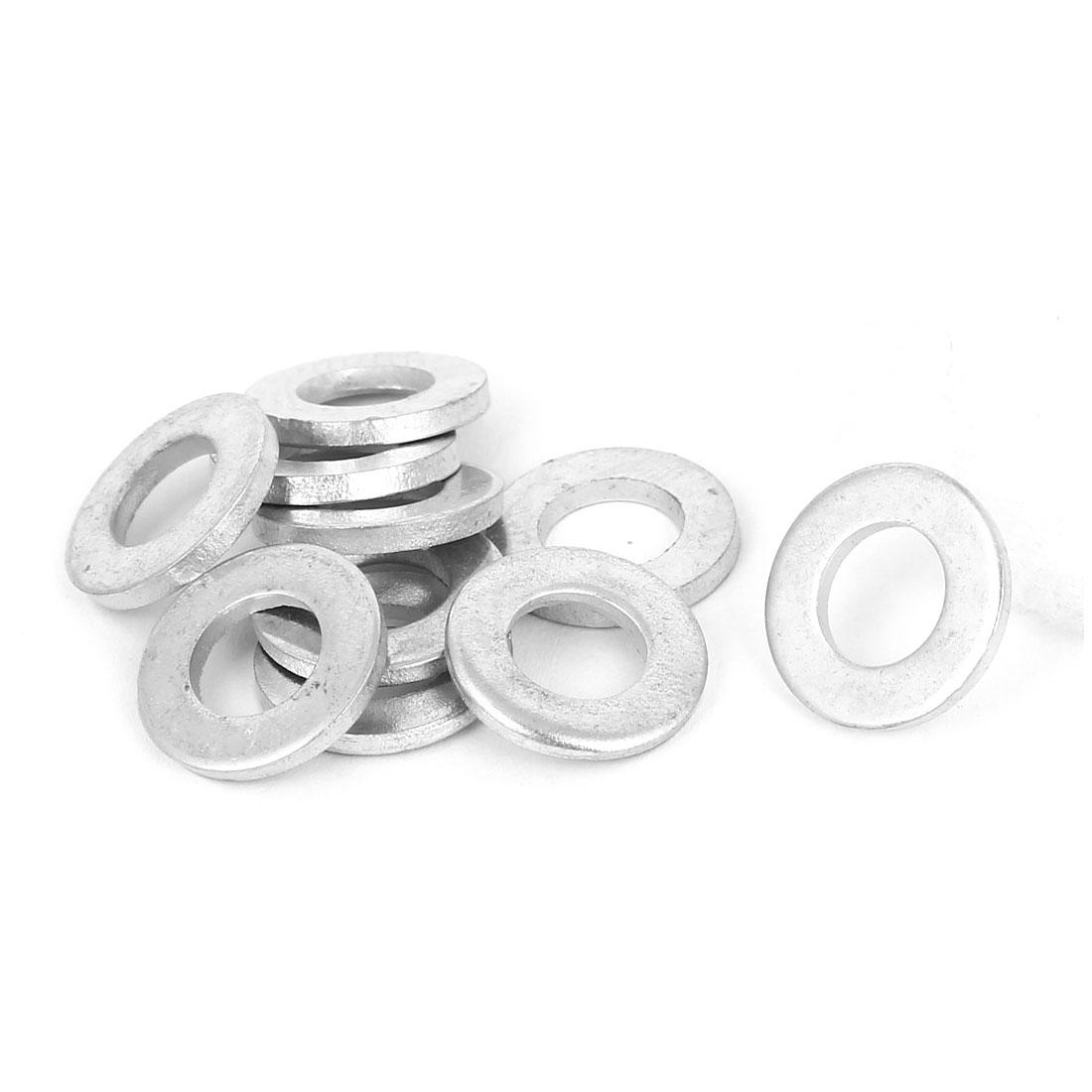 8mm x 16mm x 2mm Zinc Plated Flat Spacers Washers Gaskets Fasteners GB97 10PCS