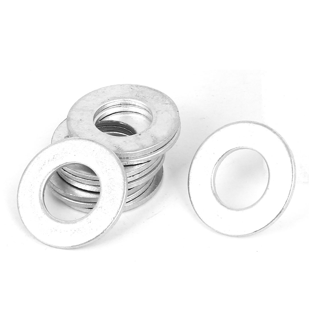 12mm x 24mm Zinc Plated Flat Spacers Washers Gaskets Fasteners GB97 10PCS