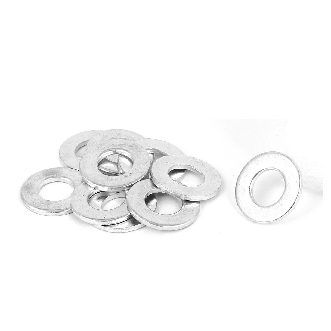 8mm x 16mm x 1.5mm Zinc Plated Flat Pads Washers Gaskets Fasteners GB97 10PCS