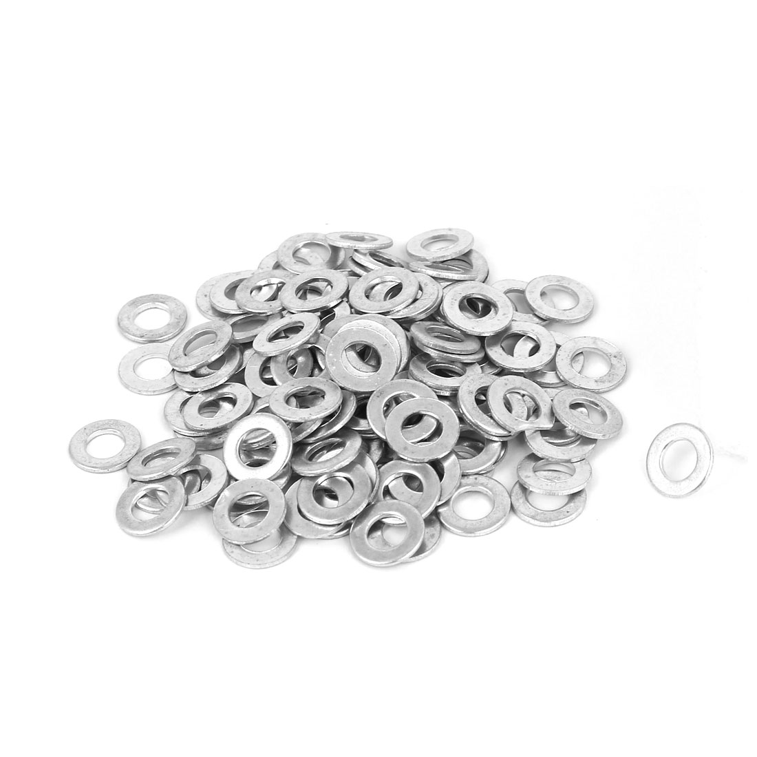 5mm x 10mm Zinc Plated Flat Spacers Washers Gaskets Fasteners GB97 100PCS