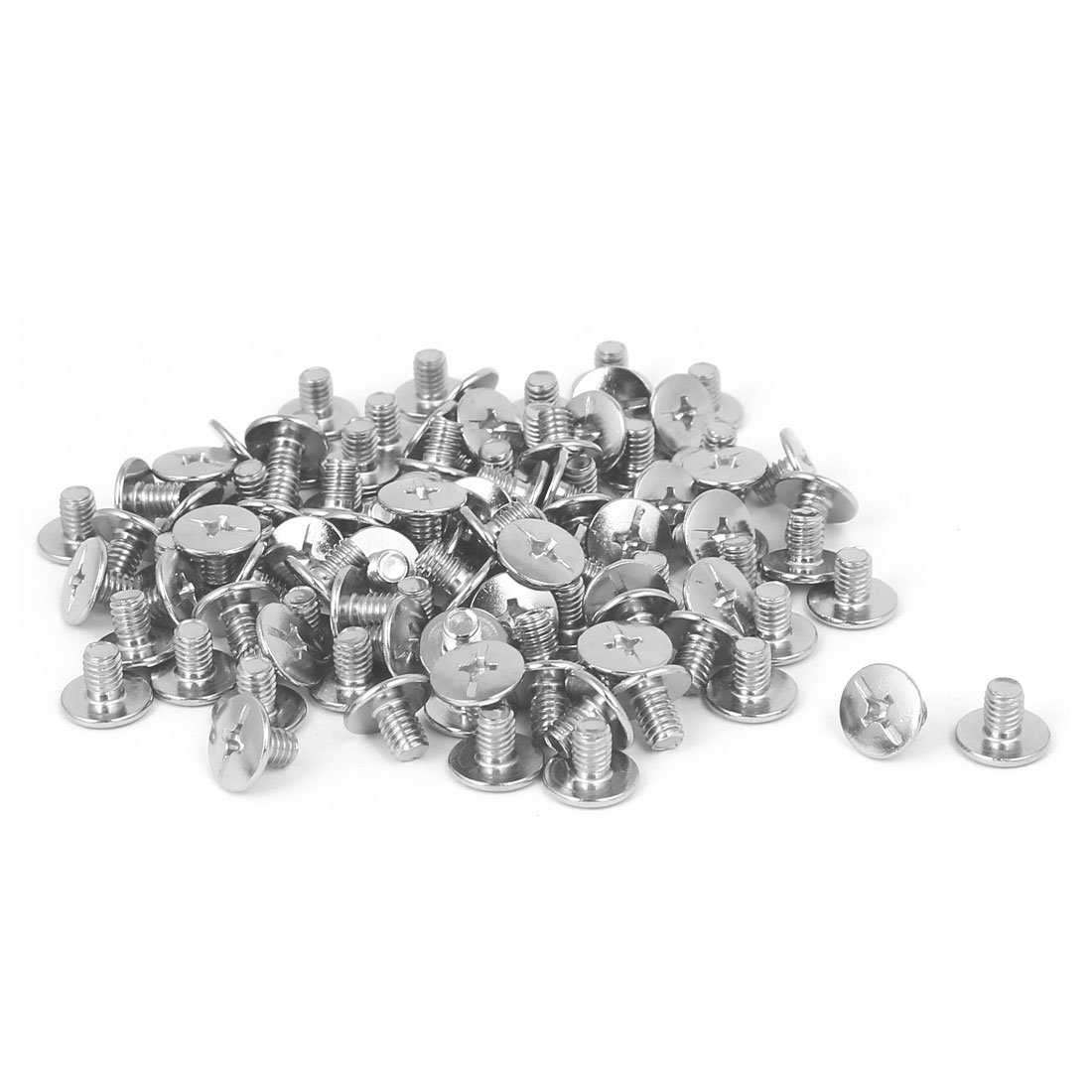 Book Photo Album Scrapbook Metal Phillips Head Binding Screw Post M4x5mm 100pcs
