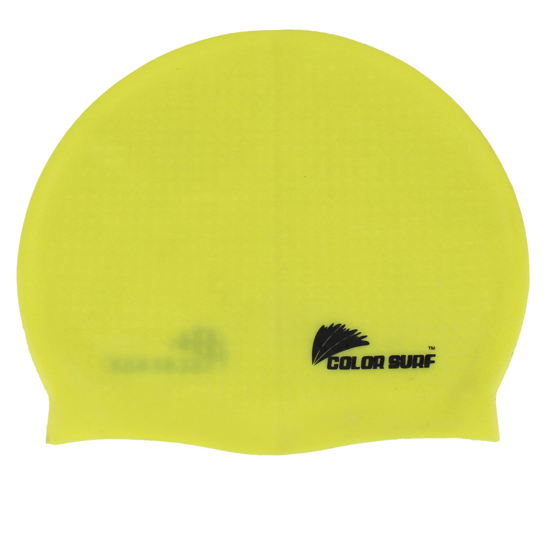 Yellow Silicone Ear Protection Elastic Reusable Swim Cap Hat for Adults