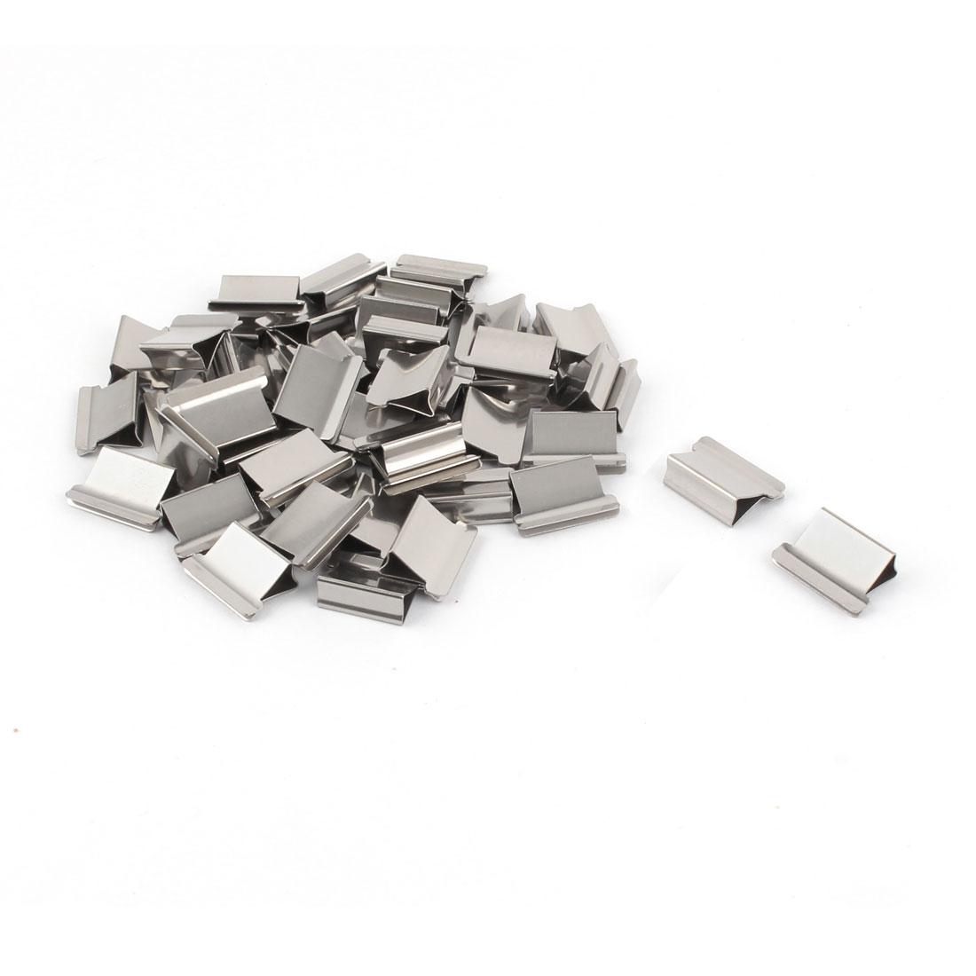 School Stationery Reusable Fast Clam Clip Dispenser Refills Silver Tone 50pcs