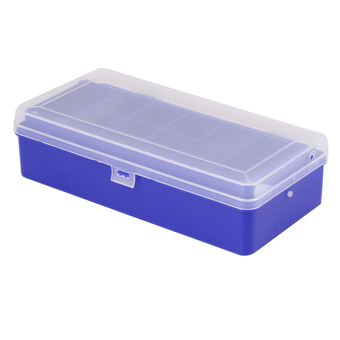 Blue Clear Plastic Double Layer Fishing Lure Bait Hooks Tackle Storage Box Case