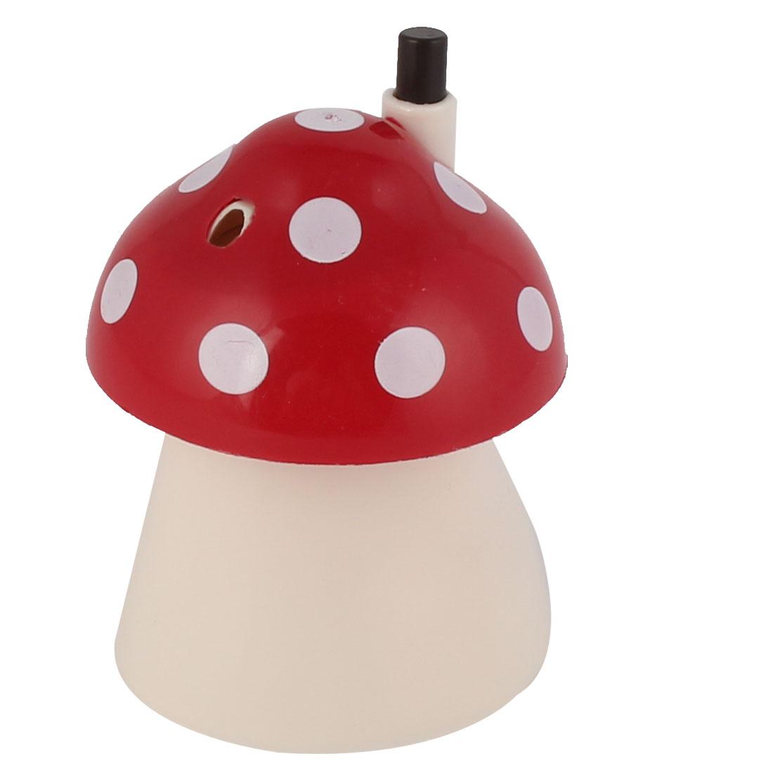 Household Family Plastic Mushroom Shaped Toothpick Holder Case Red White