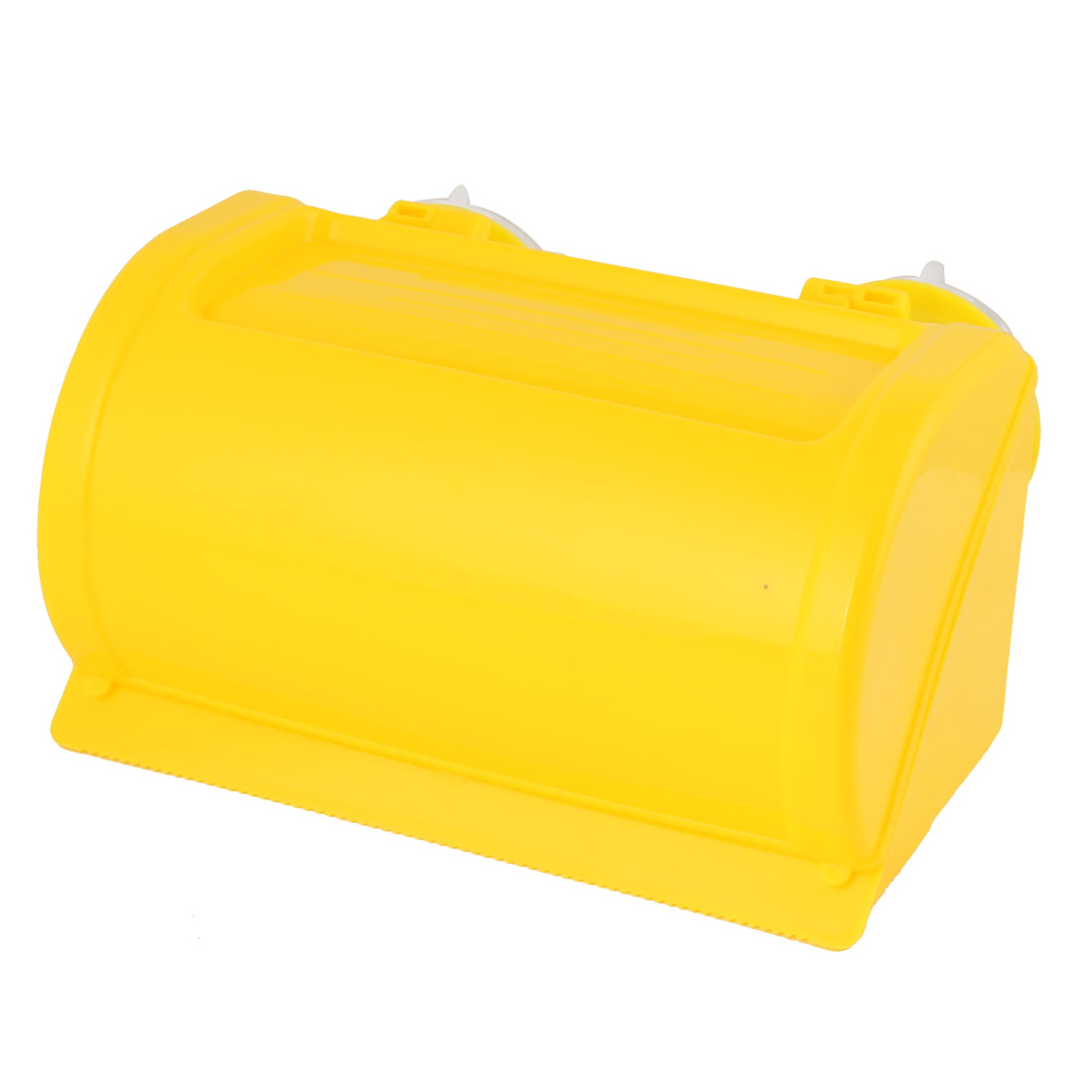 Bathroom Plastic Suction Cup Toilet Roll Paper Tissue Holder Hanger Yellow