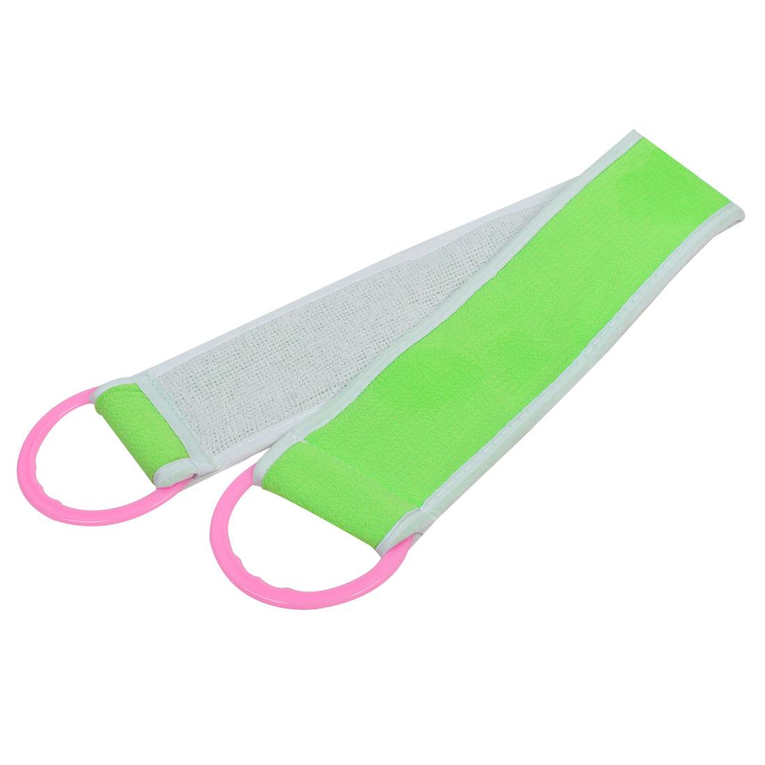 Home Bathroom Shower Cleaning Tool Body Bath Scrub Massage Towel Light Green