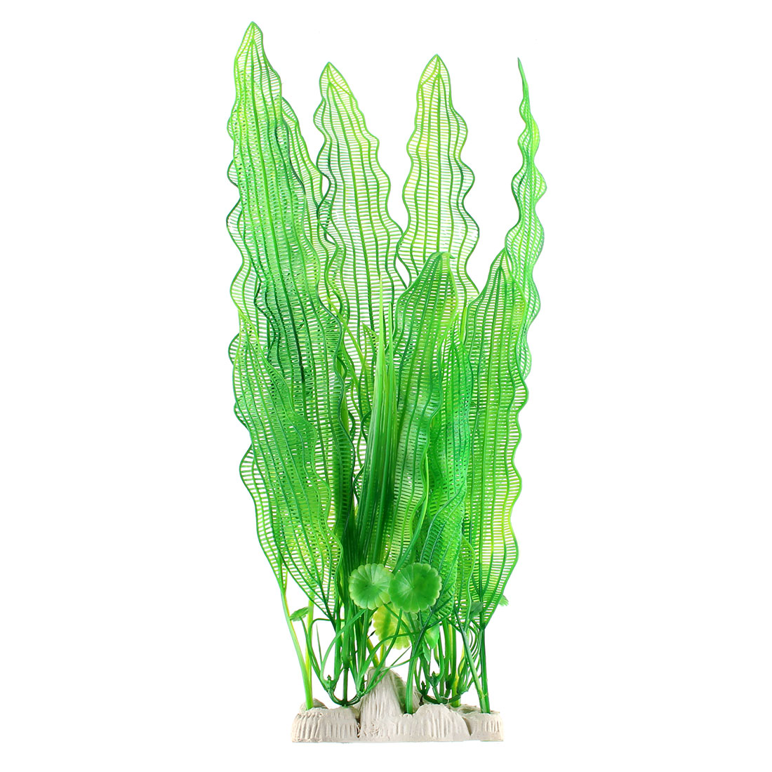 Aquarium Fish Tank Plastic Artificial Plant Aquatic Grass Decoration Green 40cm Height