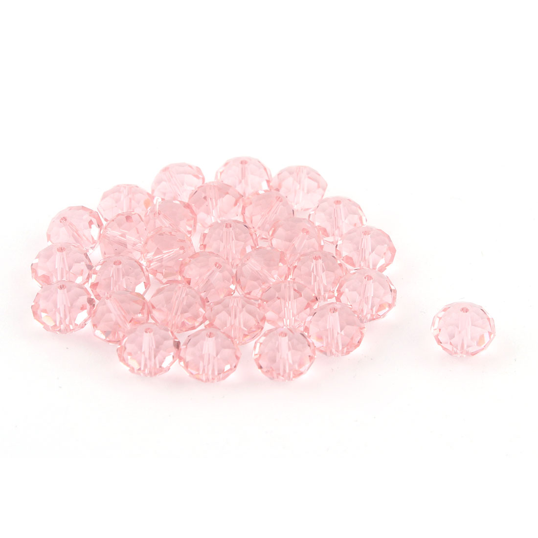 Women Jewelry Bracelet Necklace Artifical Glittery Crystal Beads Dark Pink 10MM 30 PCS