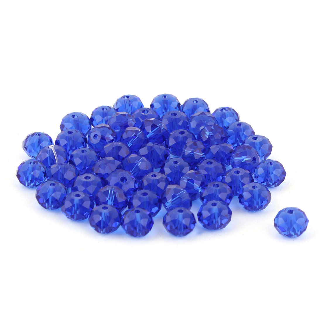 Lady Jewelry Bracelet Necklace Artifical Glittery Crystal Beads Dark Blue 8MM 50 PCS