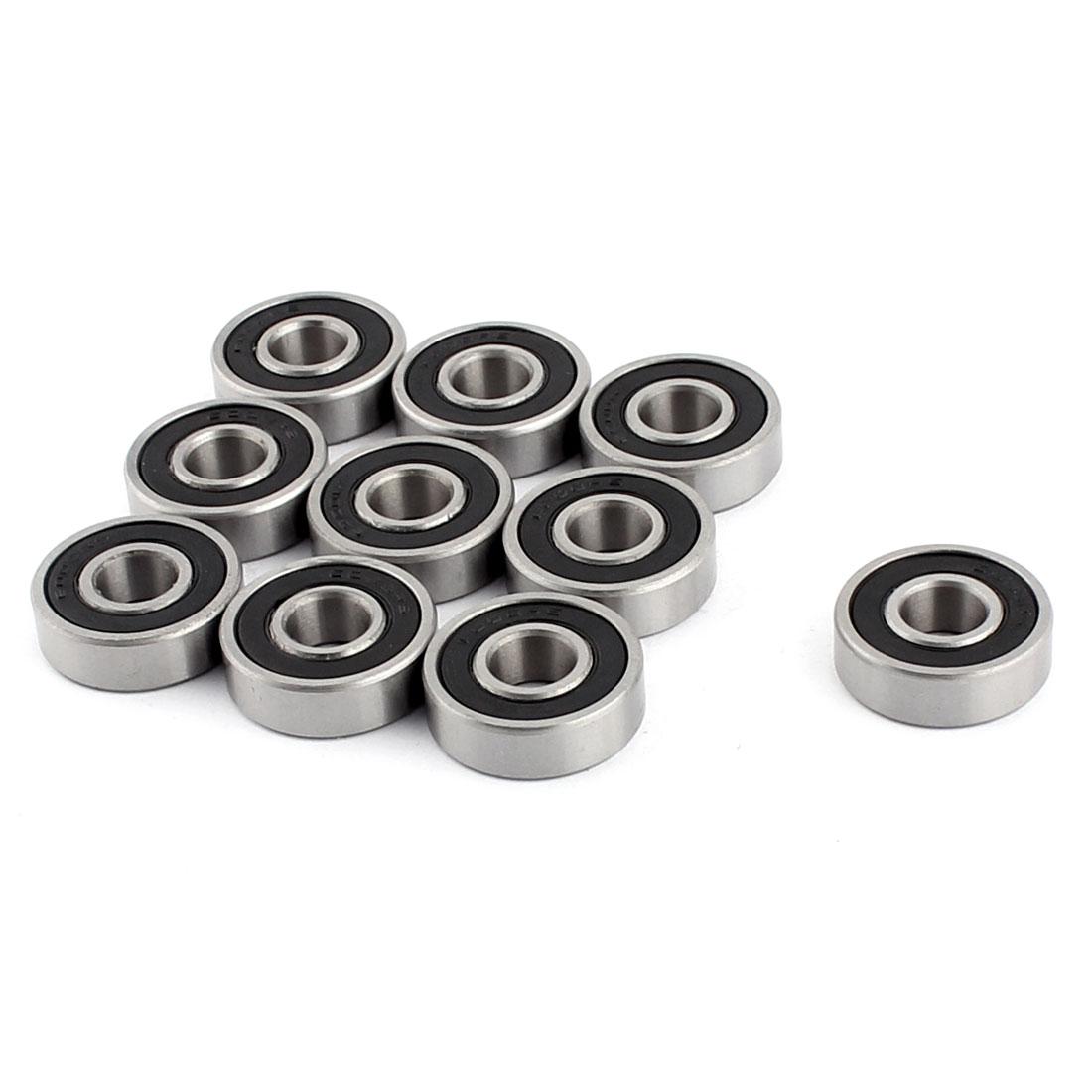 10pcs 6000RS 26mm x 10mm Metal Shielded Deep Groove Ball Bearing Wheel