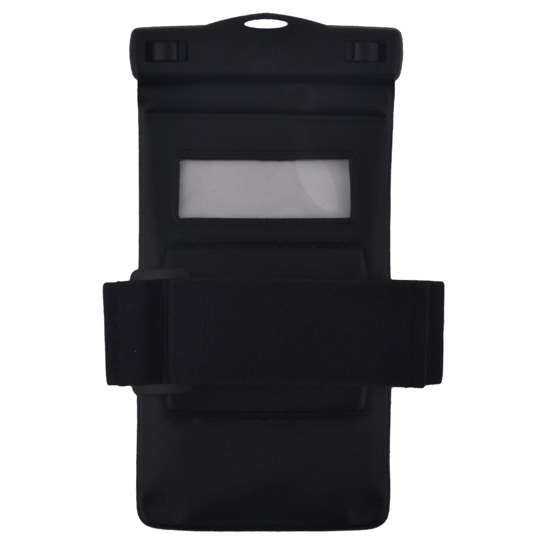 Underwater Swimming Boating PVC Cellphone Waterproof Anti Water Dust Bag Protector Black