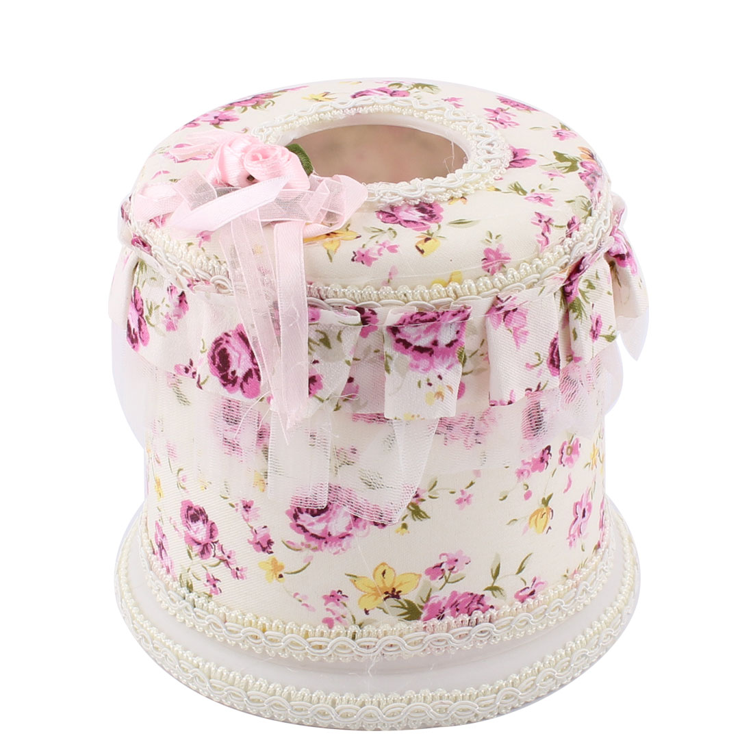 Office Restaurant Flower Pattern Napkin Tissue Case Box Holder Container