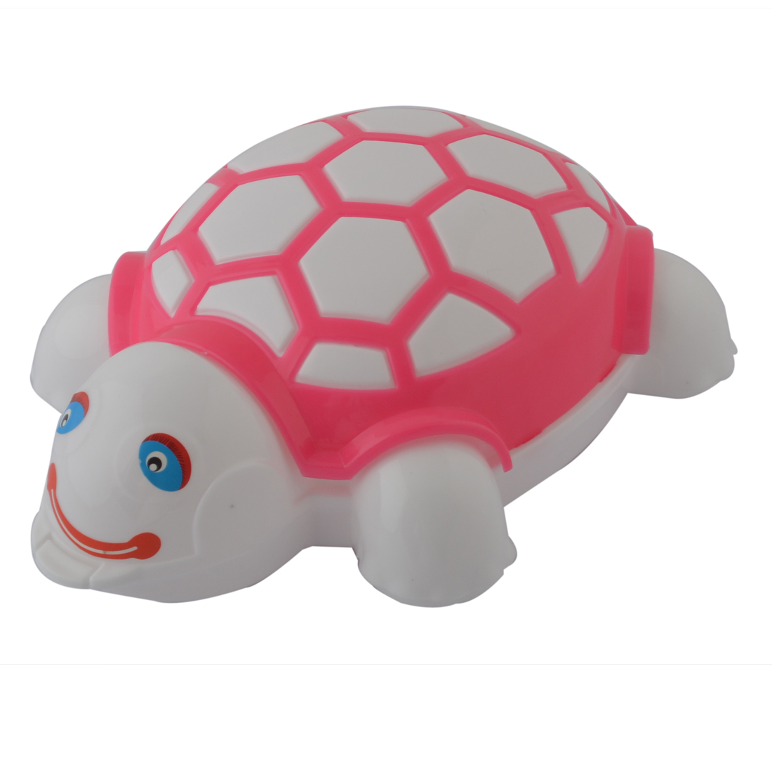 Houseware Tortoise Shaped Plastic Washing Cleaning Tool Cleaner Scrub Brush Pink White