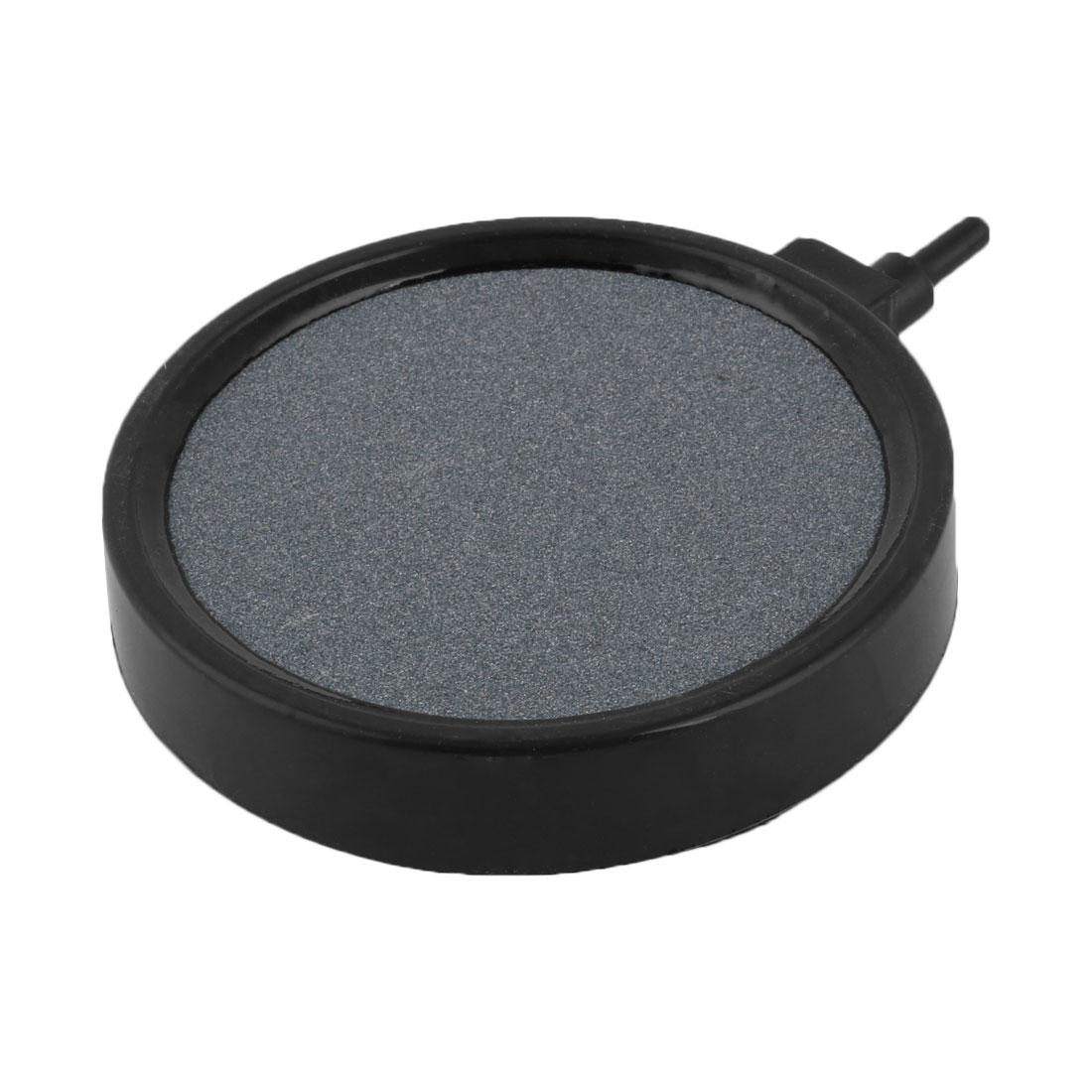 Aquarium Aquaculture Carborundum Disk Bubble Diffuser Air Stone Dark Gray