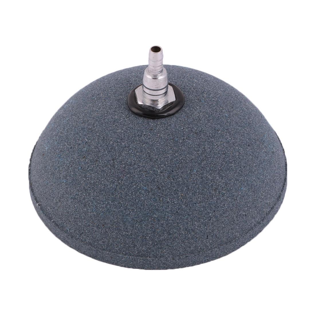 Aquarium Fish Tank Mineral Bubbles Oxygen Diffuser Air Stone 10cm Diameter Dark Gray