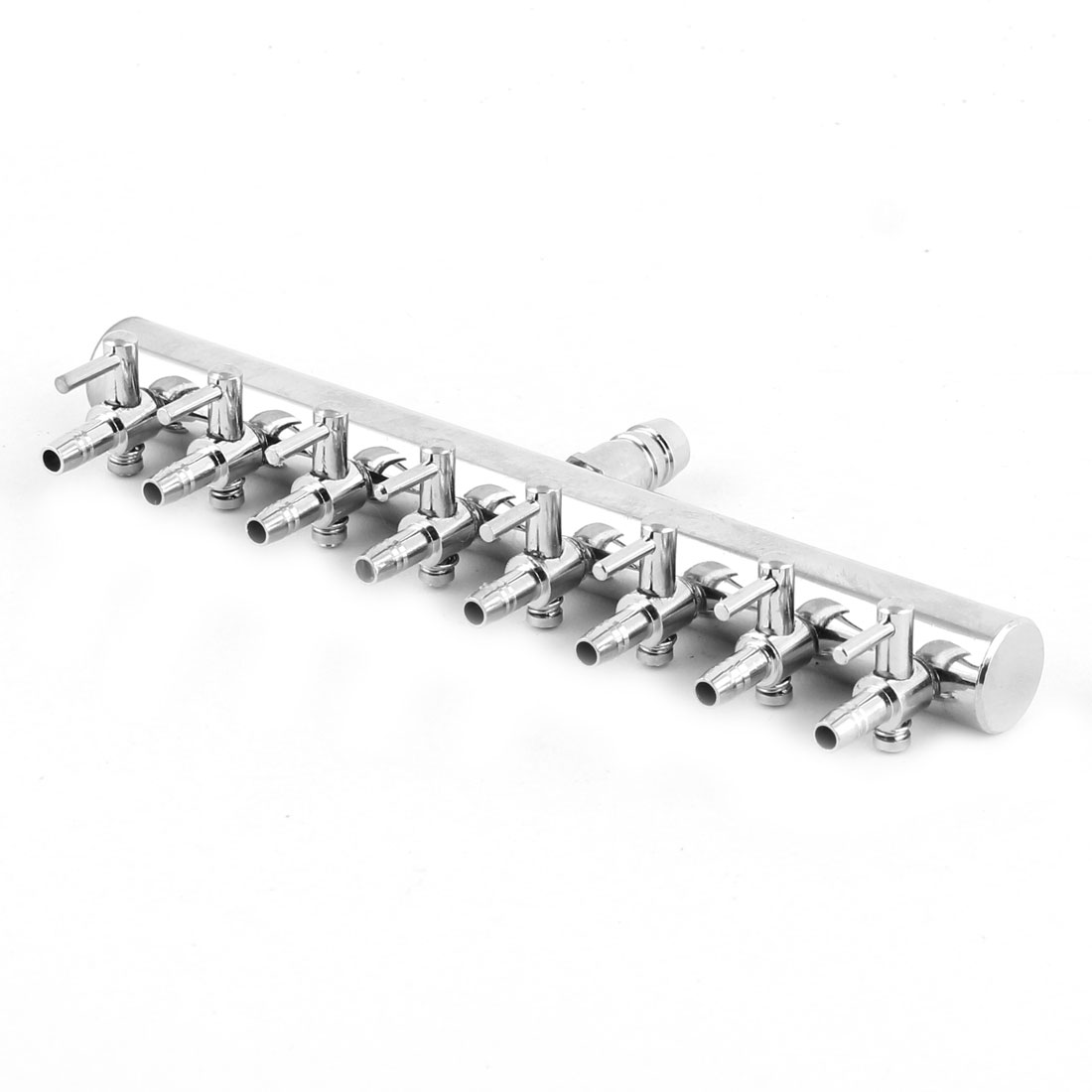 Stainless Steel 8 Way Outlet Water Air Flow Control Valve for Aquarium Fish Tank