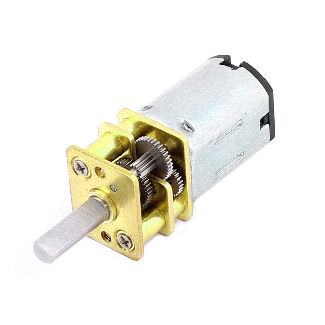 DC 12V 60RPM High Torque 3mm Shaft Dia Low Speed Solder Gear Box Motor