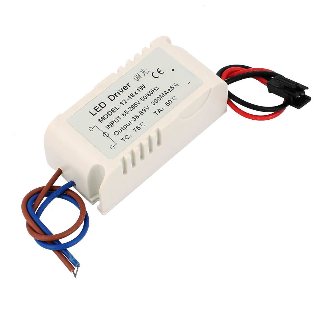 AC85-265V to DC38-69V 300mA (12-18)x1W LED Dimmer Driver Power Supply Converter Adapter