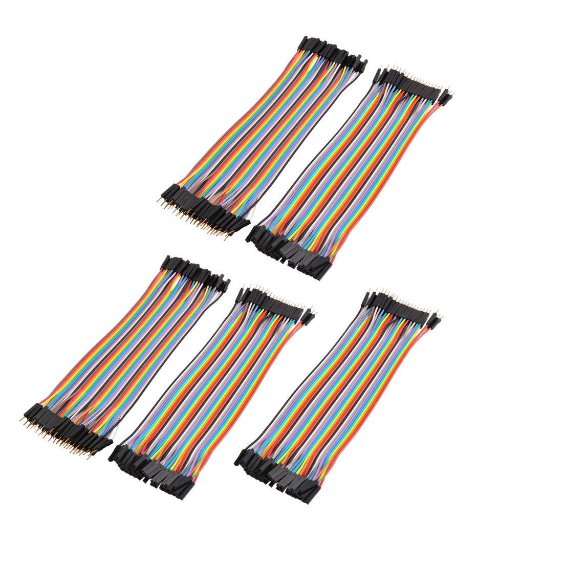 5Pcs Male to Female 40P Jumper Wires Ribbon Cables Pi Pic Breadboard DIY 20cm
