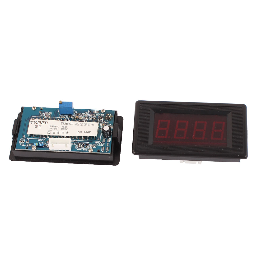 2Pcs Red LED Display 4 Digits DC 0-200V Range Digital Panel MountMeter Voltmeter