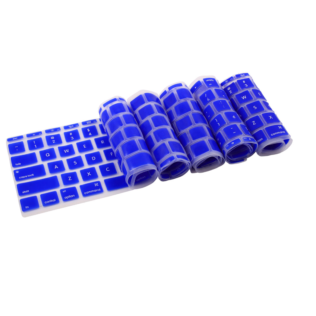 Silicone Notebook Laptop Keyboard Film Cover Skin Blue 5pcs for MacBook 11.6 Inch