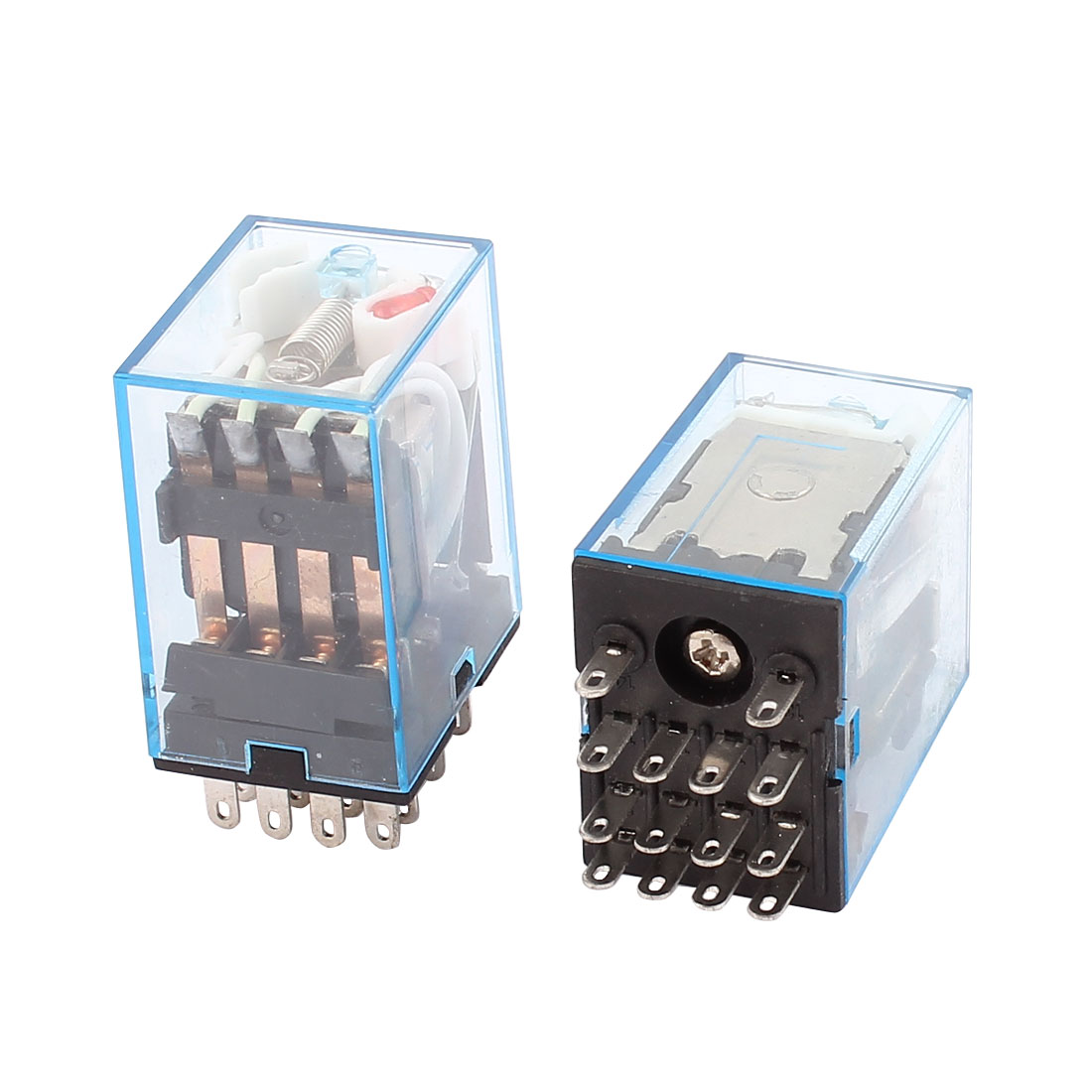 HH54P MY4 AC 12V Coil Voltage 14 Pins 4PDT Power Electromagnetic Relay 2Pcs
