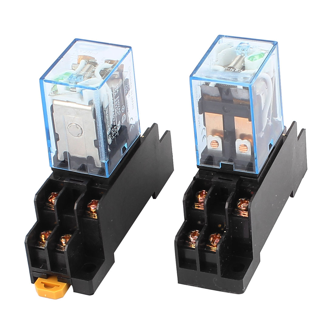 2Pcs LY2N-J DC 12V Coil Voltage 8Pin DPDT Power Electromagnetic Relay w Socket