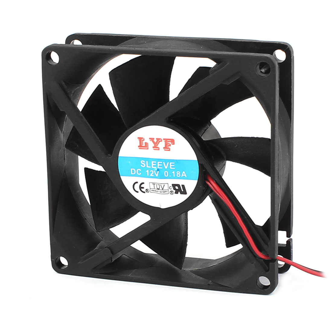 DC 12V 0.18A 4-Pin PC Computer Case CPU Cooler Cooling Fan Black 80x80mm