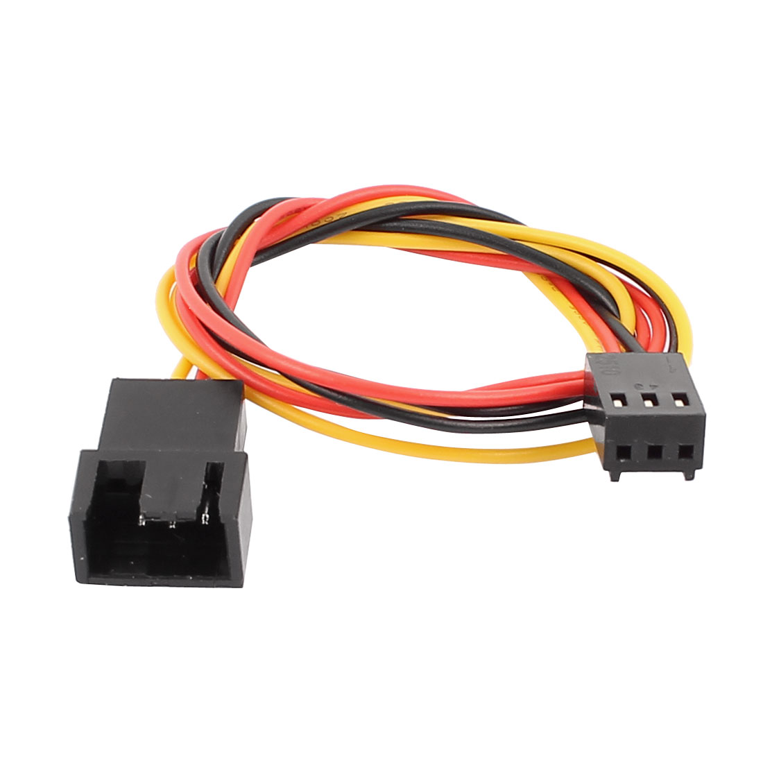 Black Red 33cm Length JST SM 3P Jack Male to Female Wire Connector