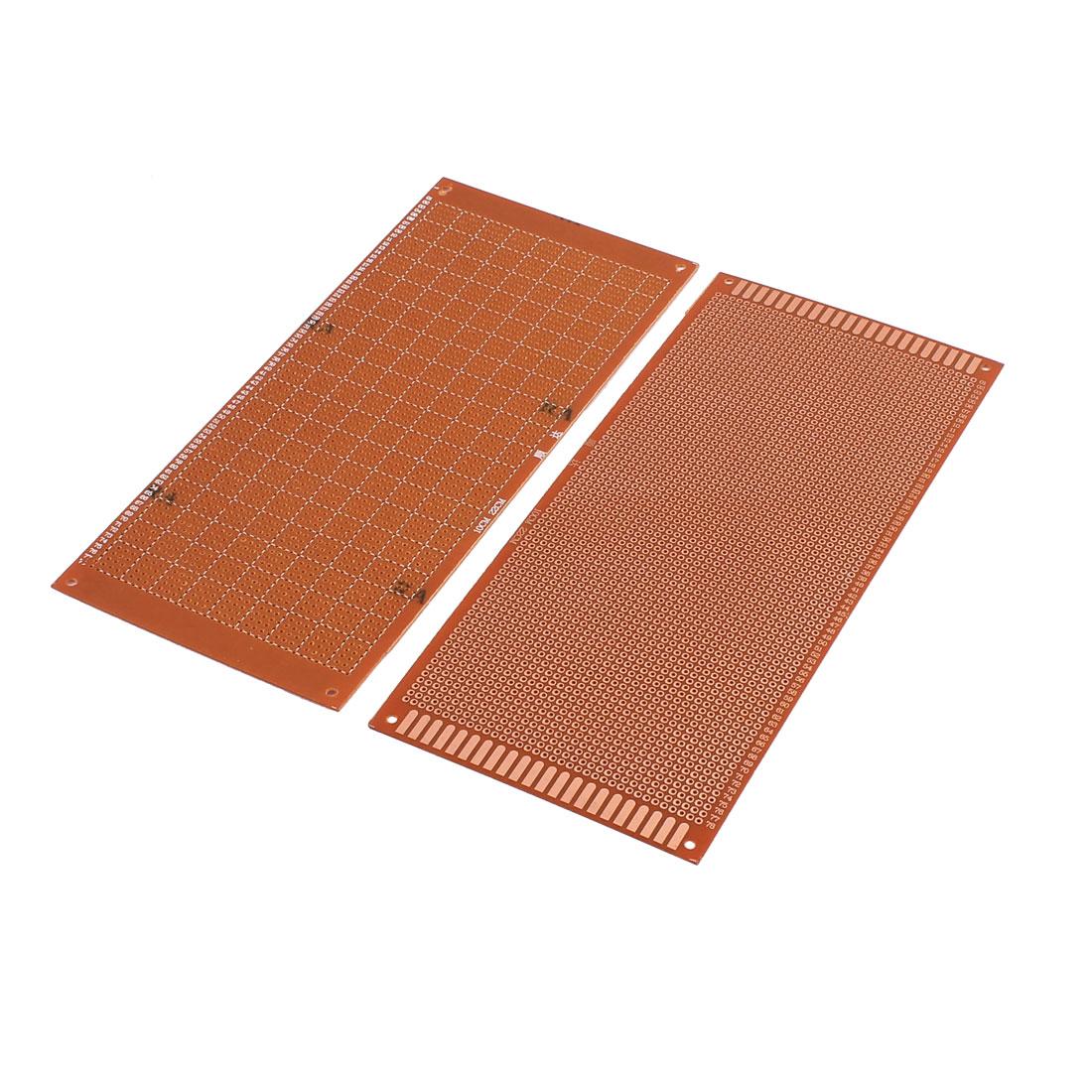 2 Pcs Prototyping Experiment Tester Matrix PCB Circuit Plate Board 10cm x 22cm