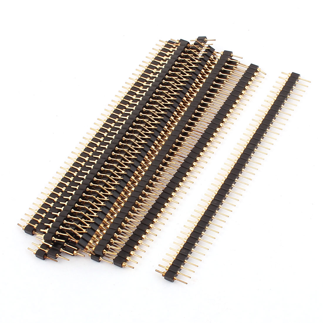 2.54mm Pitch 1x40 Pins Straight Single Row Header Connector 12pcs