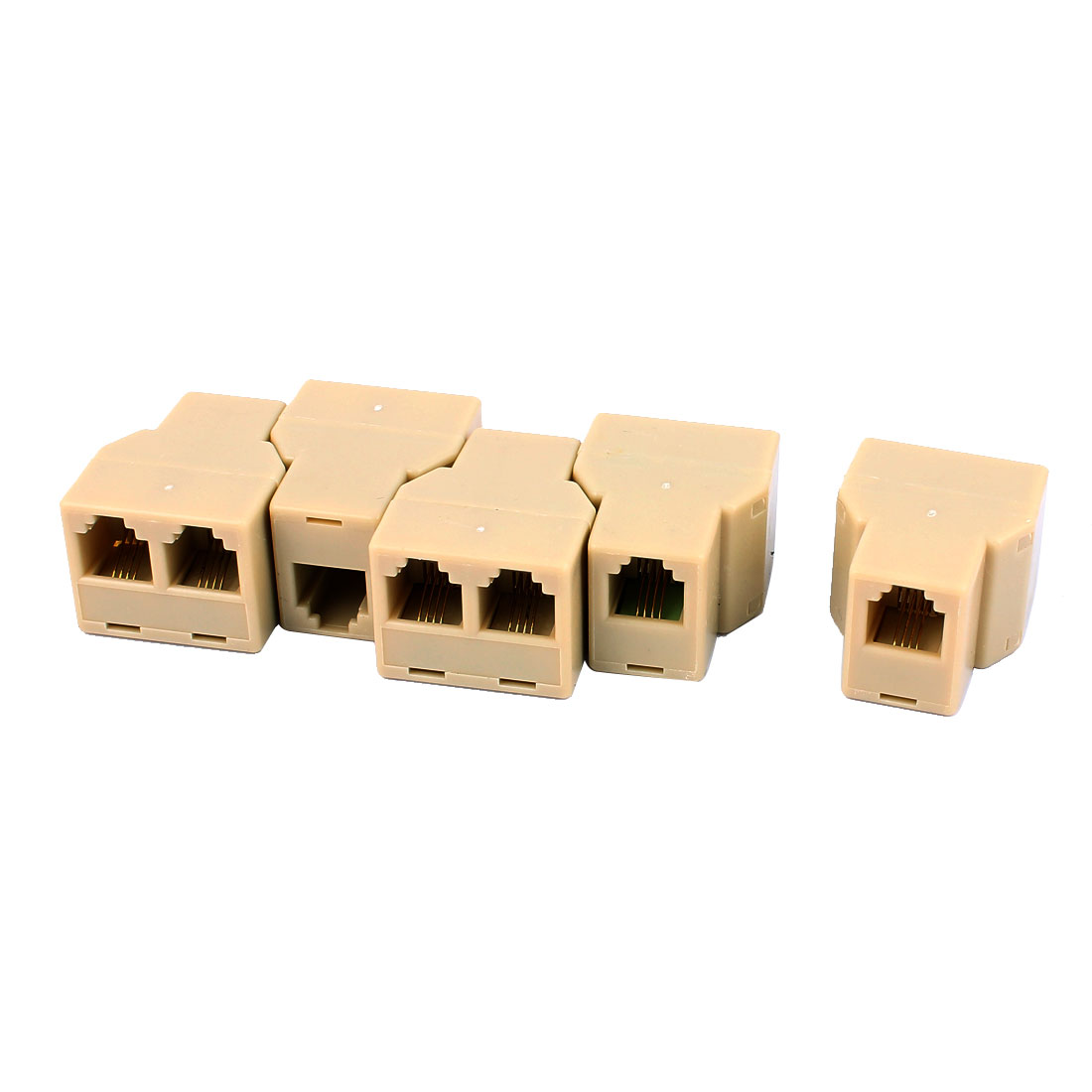RJ11 6P4C Female to 2 Female Phone Telephone Cable Splitter Coupler 5 Pcs