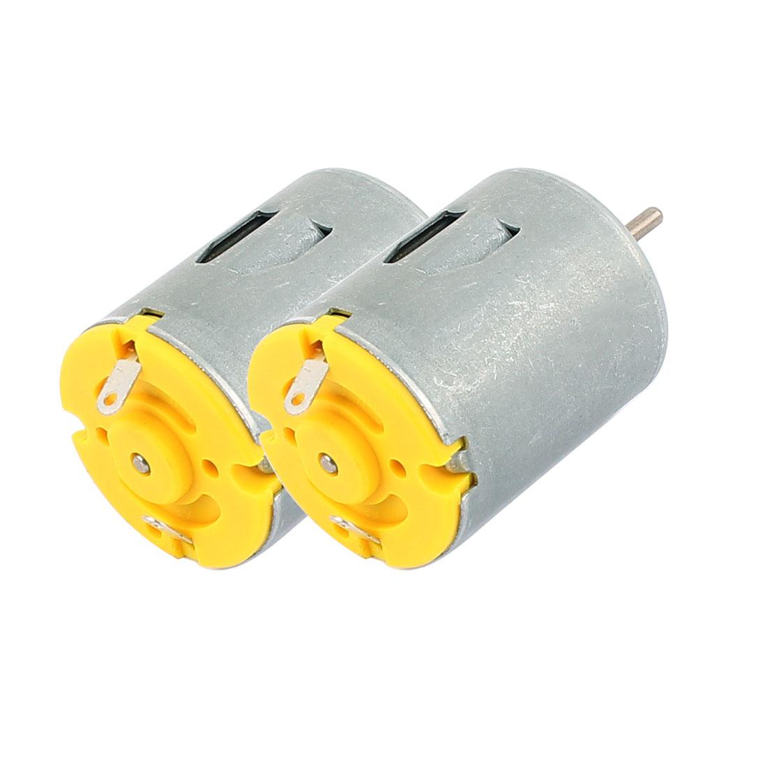 2Pcs DC3-6V 4000RPM High Speed Mini DC Motor for Smart Cars DIY Toys