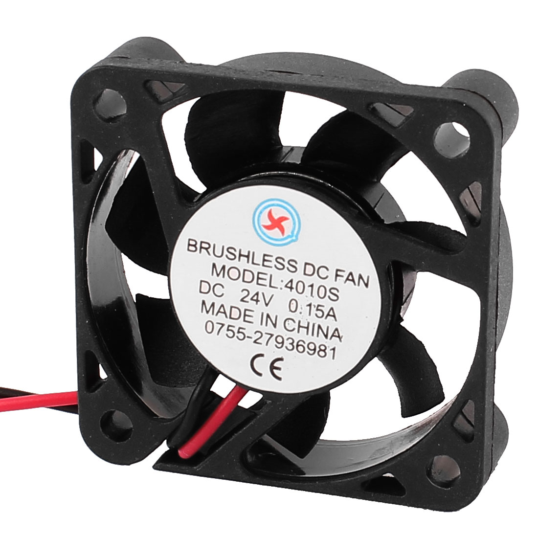 DC 24V 0.15A Black Plastic 7 Vanes PC Computer Case Cooling Fan 40mmx40mmx10mm