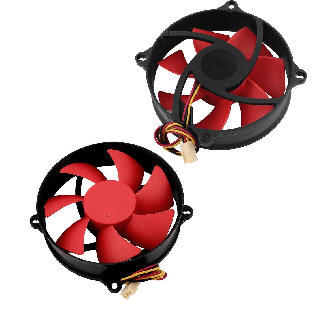 2Pcs DC 12V 0.18A 3P PC Computer Case CPU Cooler Cooling Fan 95x95mm
