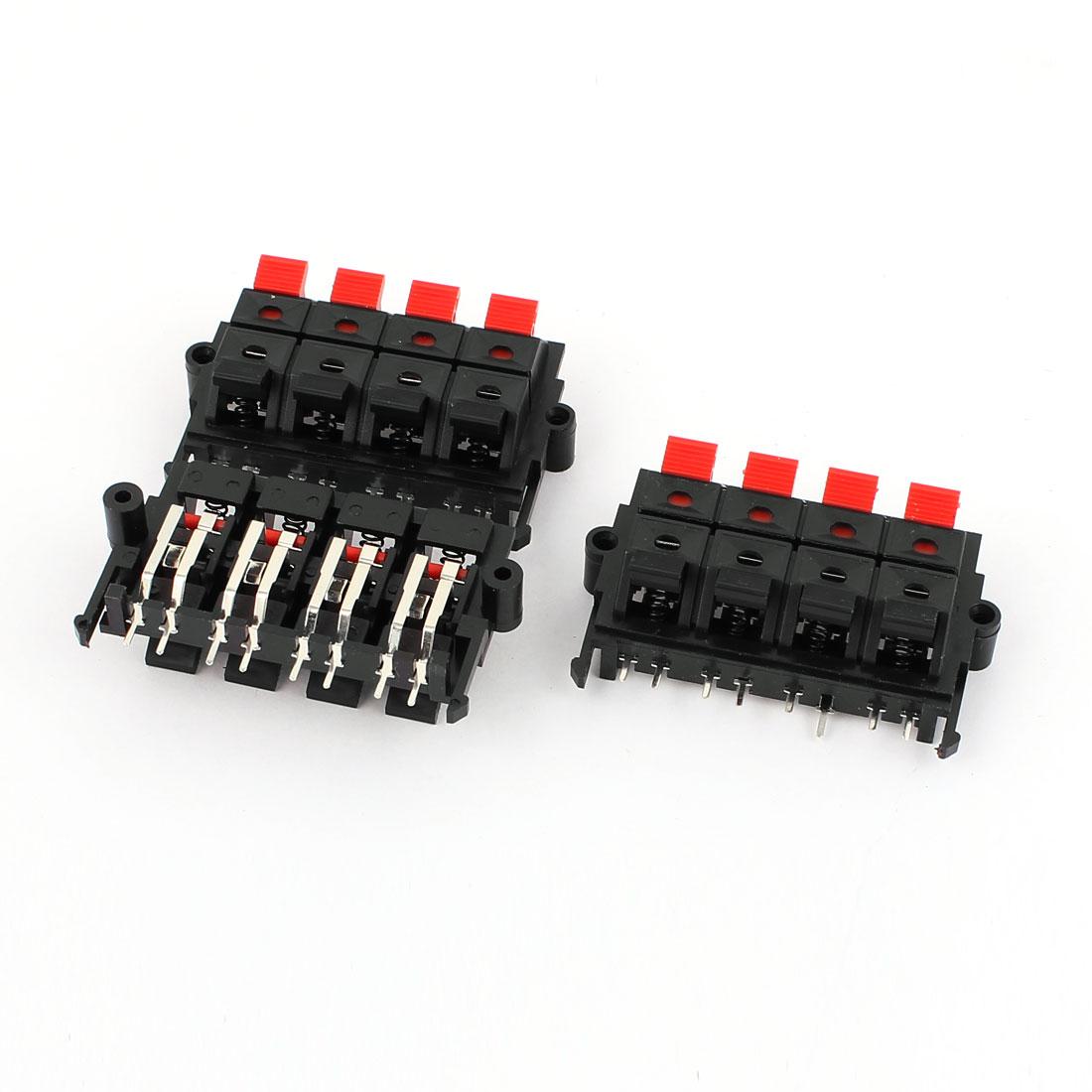 3Pcs 8 Way Jack Socket Spring Push Release Connector Speaker Terminal Block