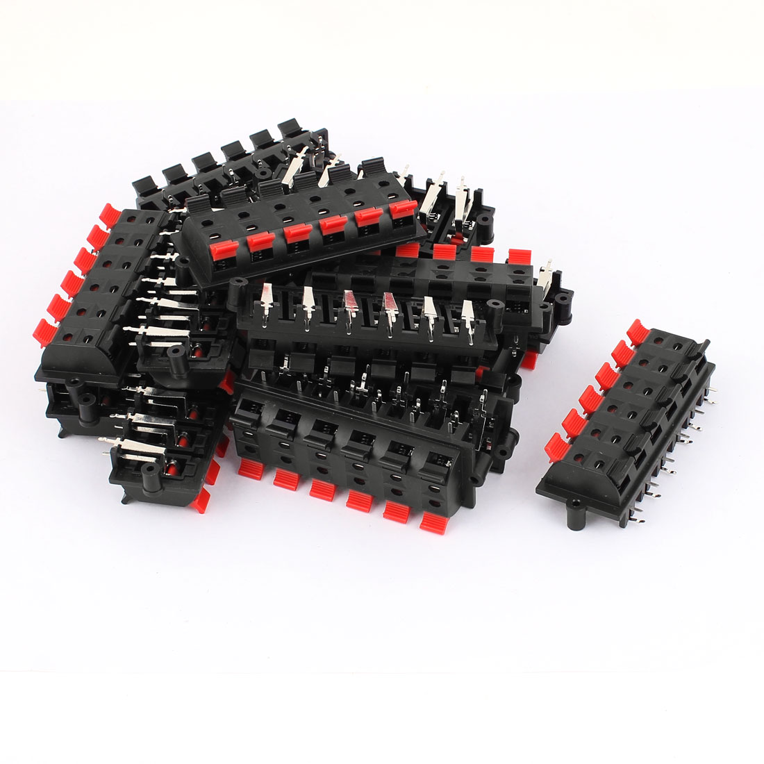 15Pcs 12 Way Jack Socket Spring Push Release Connector Speaker Terminal Block