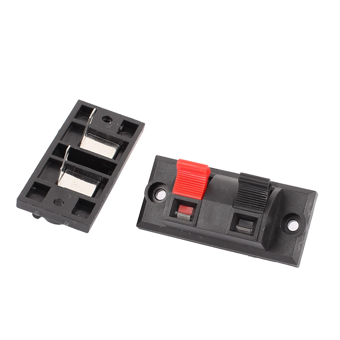 2Pcs 2 Way Jack Socket Spring Push Release Connector Speaker Terminal Block
