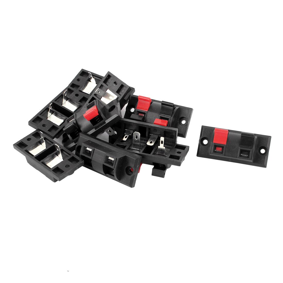 10Pcs 2 Way Jack Socket Spring Push Release Connector Speaker Terminal Block