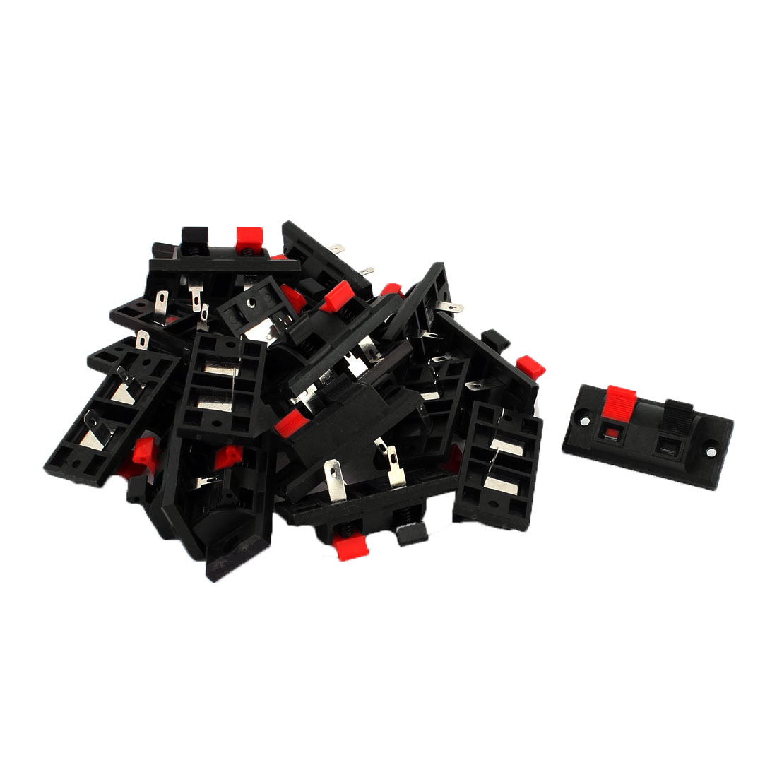 20Pcs 2 Way Jack Socket Spring Push Release Connector Speaker Terminal Block