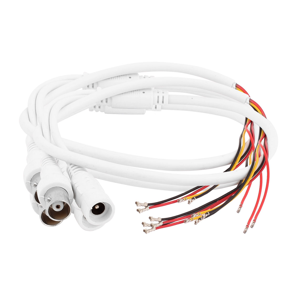 3Pcs DC Power 5 Wire 2.1x5.5mm BNC Female Jack CCTV Safety System Cable