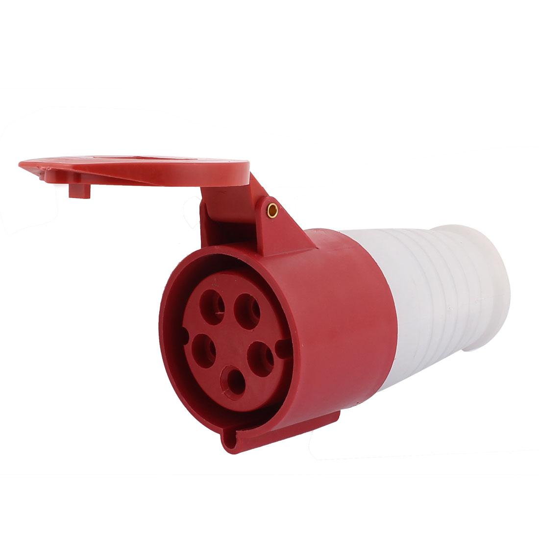 AC 220V-415V 32A IP44 3P+N+E 5P Female Waterproof Industrial Electrical Socket
